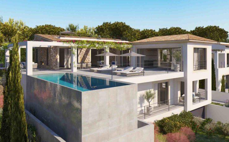 Project of stunning modern style villa in Santa Ponsa