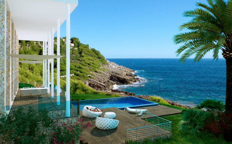 DREAMLIKE LOCATION: Contemporary style first sea line villa