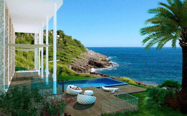 TRAUMLAGE: Zeitgenössische Villa in erster Meereslinie