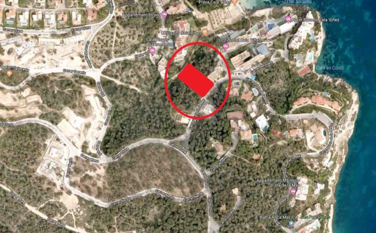 Building plot with panoramic views Cala Vinyas