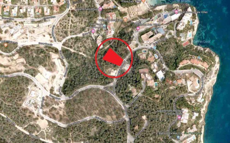 1.700 m² Grundstück in beliebter Lage Cala Vinyas