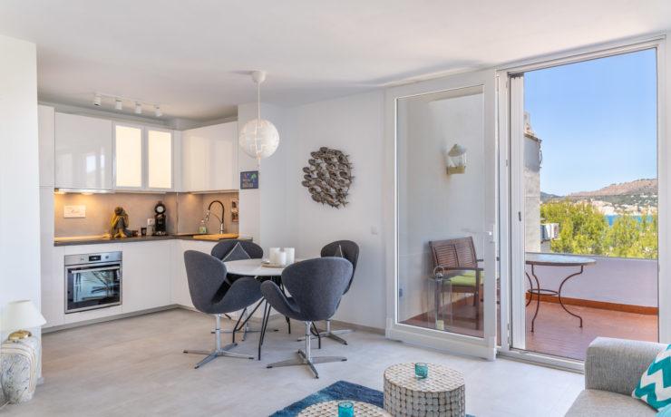 Sanierte Wohnung mit Meerblick Santa Ponsa