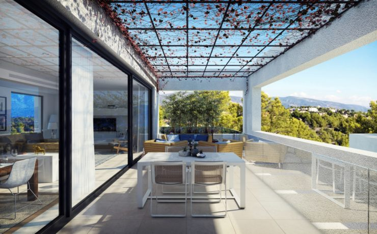 Precious new terraced house in Cala Vinyas