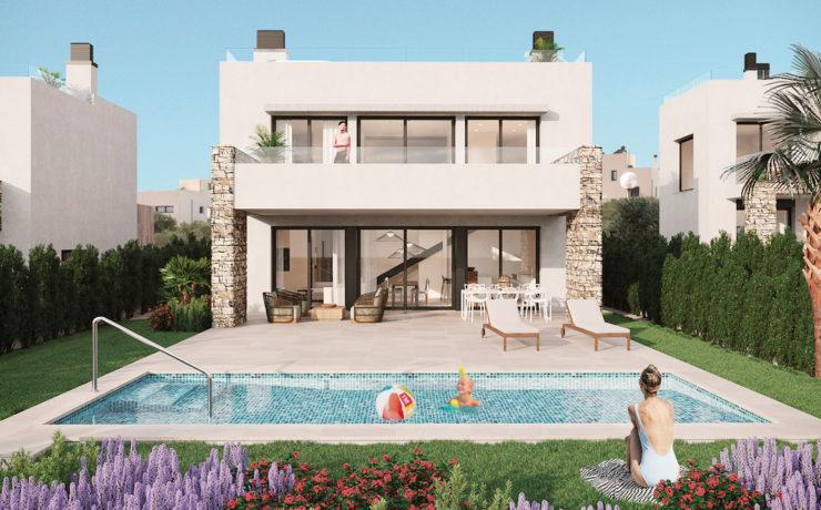 Beautiful newly built villa with pool in Sa Rapita