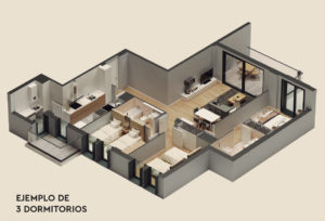 035 LAYOUT 3 BED