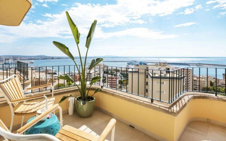 La Bonanova – Palma: Magnificent sea view penthouse